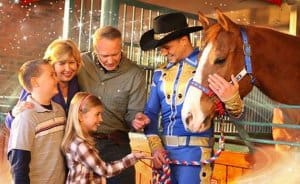 """Two """"stars"""" of Dolly Parton's Stampede Dinner Attraction!"""